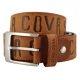 SINA COVA老船長大英文字母褐色牛皮休閒皮帶SC21507-5褐色 product thumbnail 1