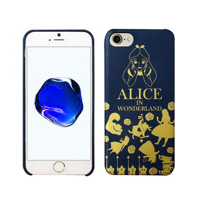 迪士尼授權 夢遊仙境 iPhone 8/iPhone 7 燙金皮革手機殼(愛麗絲...