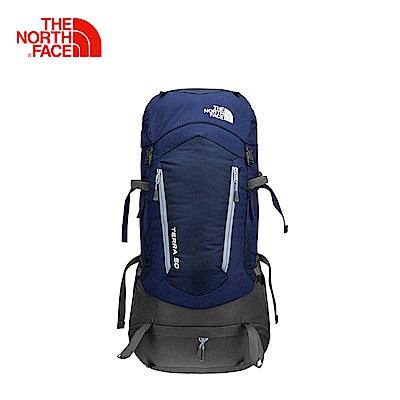 The North Face北面男女款深藍色舒適防護技術背包