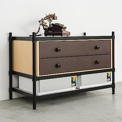 dayneeds鐵木欣櫃派 90X45X60cm 三層烤黑層架