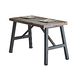 AT HOME-工業風設計4尺實木仿舊鐵藝餐桌(120*60*75cm)勝利