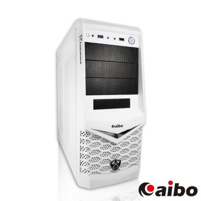 aibo 戰斧 USB3.0 三大一小 電腦機殼-白色