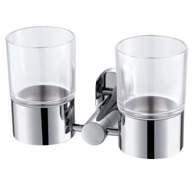 Homeicon 衛浴配件-亮面不鏽鋼雙杯架
