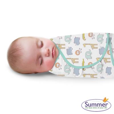美國 Summer Infant 嬰兒包巾 懶人包巾薄款 -純棉S 叢林童話