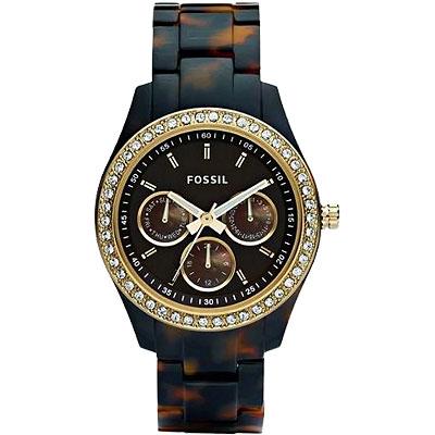 FOSSIL 絢彩風靡玻麗腕錶-琥珀色/37mm