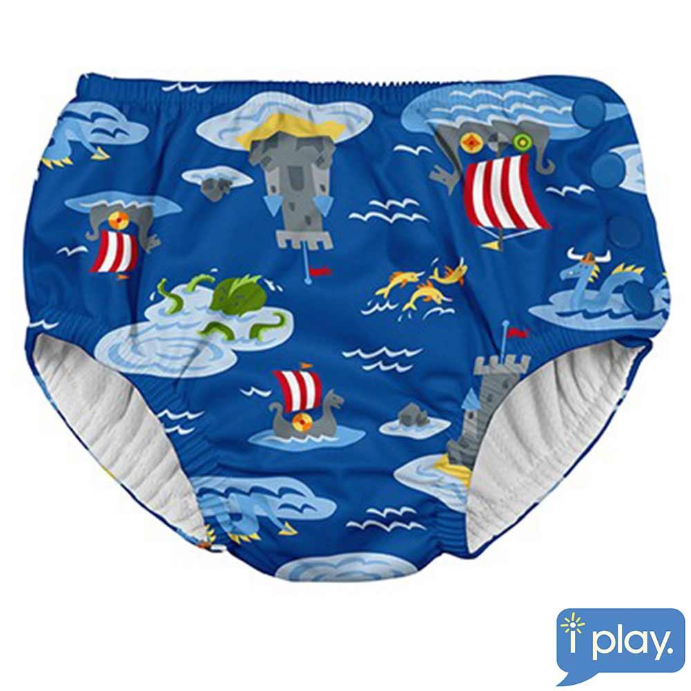 i play海底城堡款寶寶泳褲