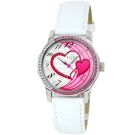 CLOIE 擁入心懷晶鑽腕錶-白x粉紅/34mm