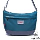 Lynx - 山貓城市悠遊款輕便質感馬鞍式側背包-湖水藍