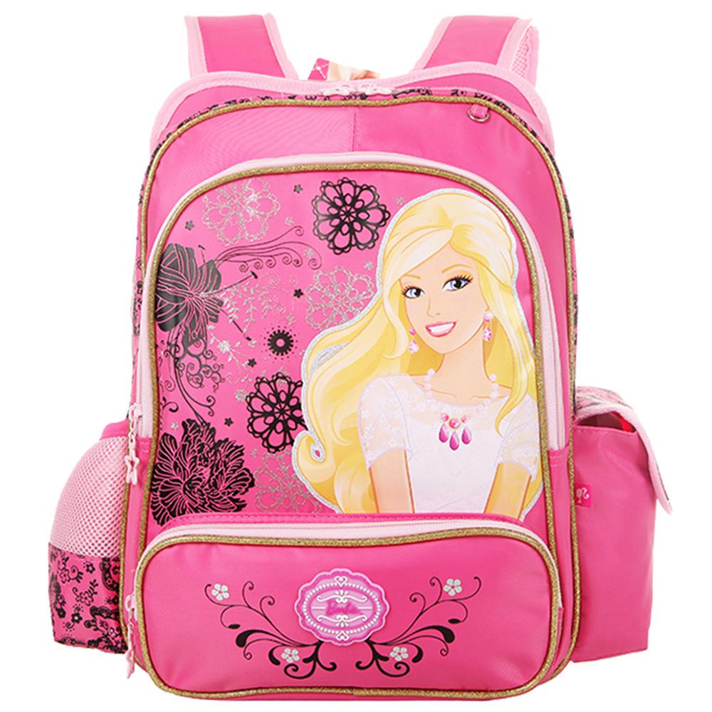 芭比Barbie 小甜心立體護脊書包A (桃紅)