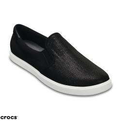 Crocs 卡駱馳 (女) 都會街頭閃亮便鞋-204285-001