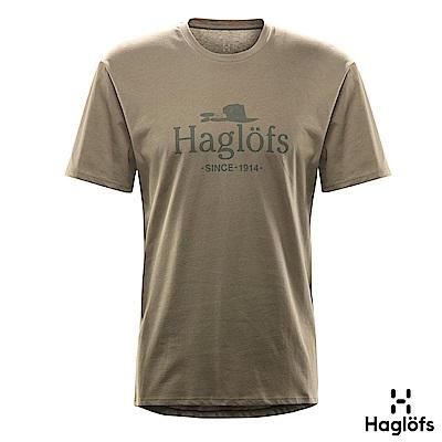 Haglofs 男 Gamper 有機棉T恤 聖人綠色