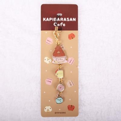 Kapibarasan 水豚君咖啡小舖系列金屬吊飾 。疊疊水豚君