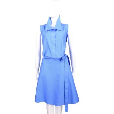 PLEIN SUD FAYCAL AMOR 藍色側綁帶設計無袖洋裝