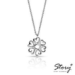 STORY故事銀飾-心型圈純銀項鍊