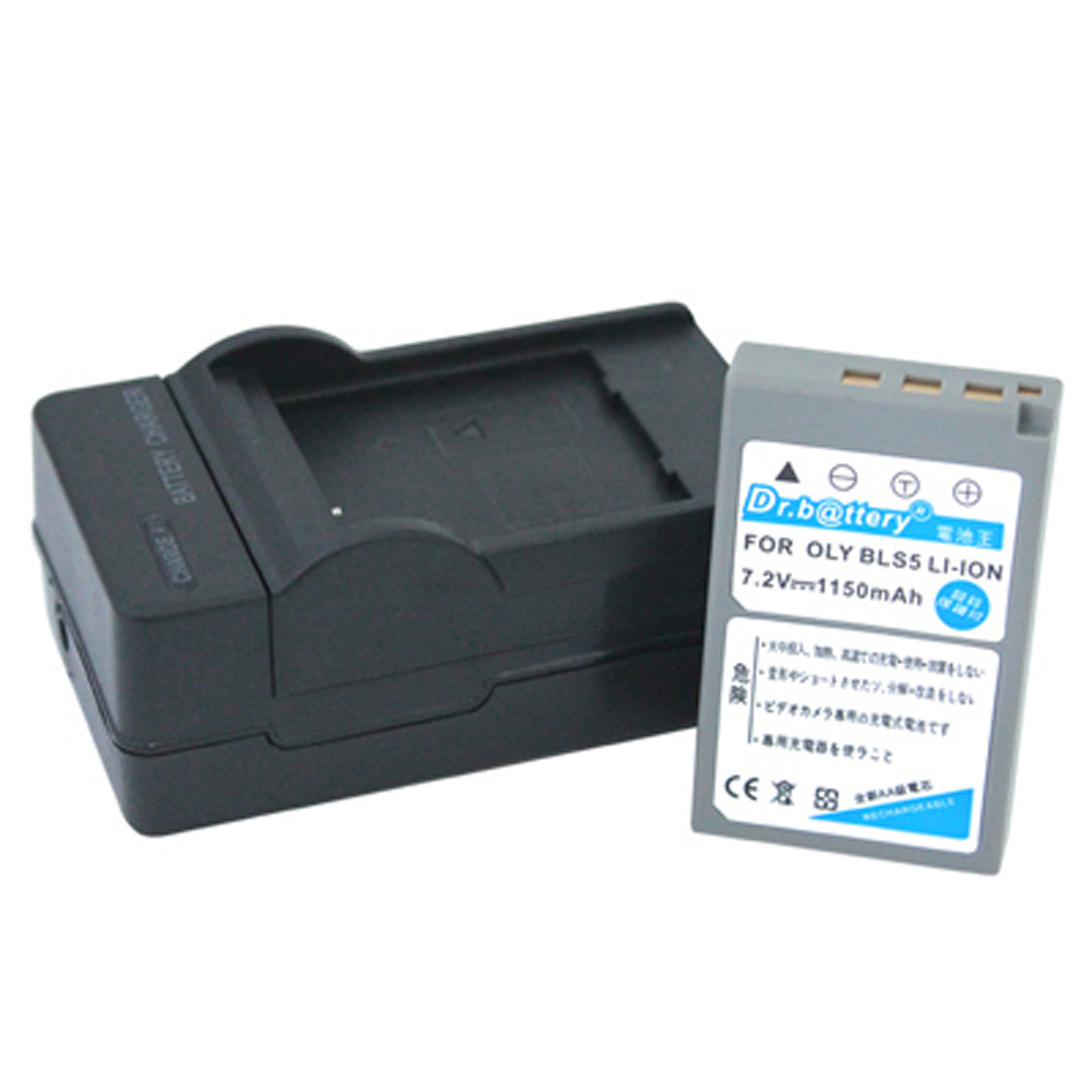 電池王 For OLYMPUS BLS-5 高容量鋰電池+充電器組