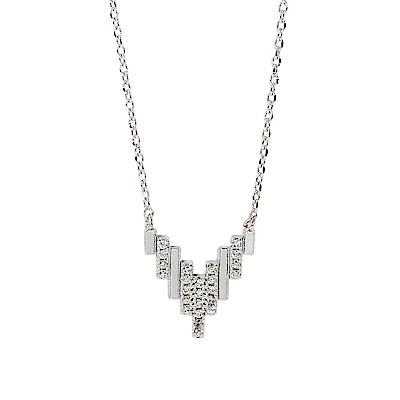 ASTRID&MIYU英國潮流品牌 金字塔水鑽項鍊 銀色
