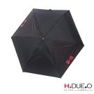 義大利H.DUE.O蝴蝶結抗UV五折手開傘 -黑紅