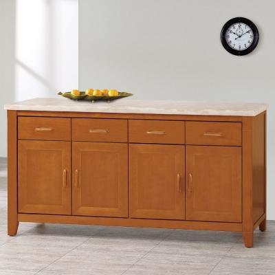 品家居 威爾森5.3尺石面餐櫃-158x45.5x82cm-免組