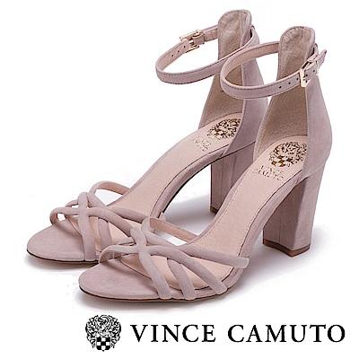 Vince Camuto 修長絨面高跟涼鞋-絨粉