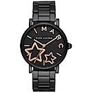 Marc Jacobs 星星時空時尚手錶-黑/36mm