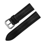 Watchband / 時尚指標仿碳纖維雙材質錶帶-黑色