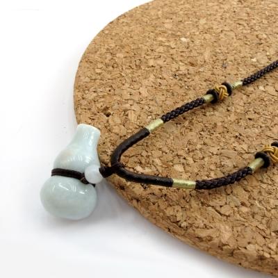 Hera頂級天然A貨翡翠納財葫蘆項鍊