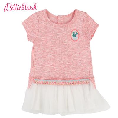 Billyblush波希米亞純棉拼接洋裝