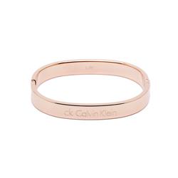 CK Calvin Klein 經典極簡時尚手環-玫瑰金色