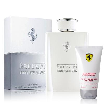 Ferrari白麝香男性淡香精100ml-贈法拉利