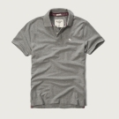 AF a&f Abercrombie & Fitch 短袖 POLO 灰色 170