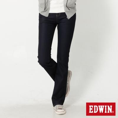 EDWIN 迦績褲JERSEYS靴型牛仔褲-女-原藍色