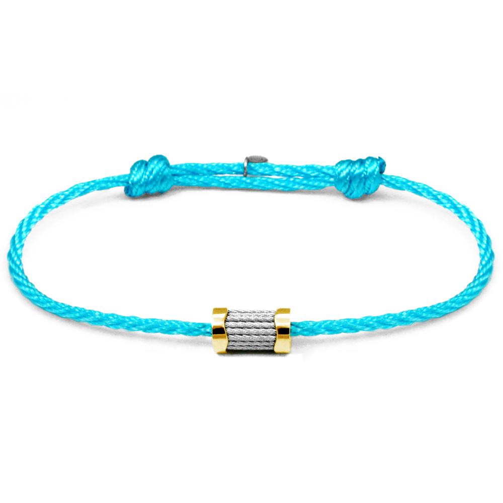 CHARRIOL 夏利豪 Forever 色彩拉繩水藍色手環