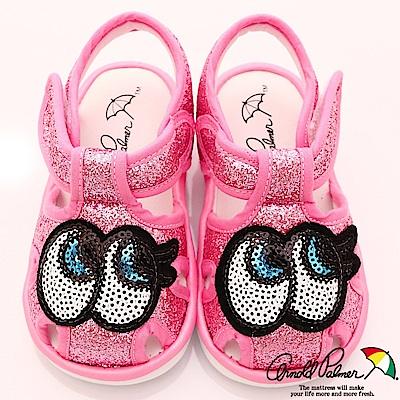 雨傘牌 亮片大眼睛嗶嗶鞋款 EI83207桃(寶寶段)