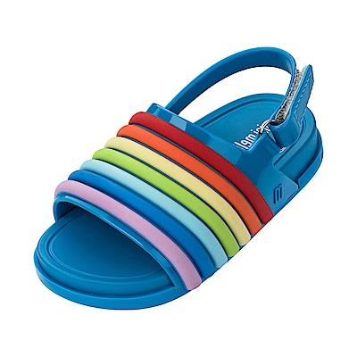 MINI MELISSA 歡樂彩虹小童涼鞋-藍色