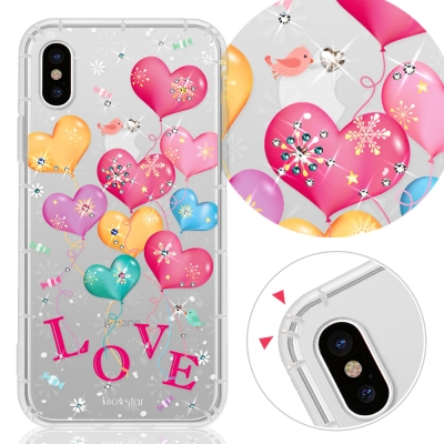 KnowStar APPLE iPhone Xs /X 奧地利彩鑽防摔手機殼-告白氣球