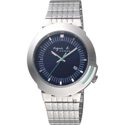 agnes b. 原創法國經典手錶(BF6311P1)-藍x銀/40mm