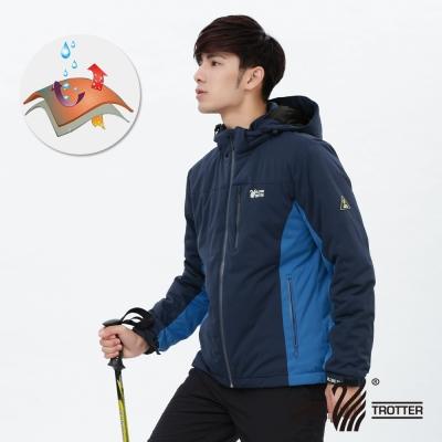 【遊遍天下】GlobeTex防水男款JIS90%羽絨禦寒機能羽絨外套G0338深藍