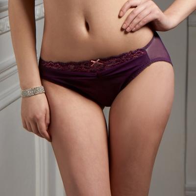 可蘭霓Clany   性感革命華麗雙色蕾絲內褲 華麗紫