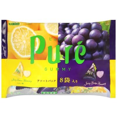 KANRO Pure軟糖綜合包-葡萄&檸檬(136g)