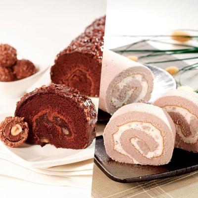 ★3Q烘焙★ 經典巧克力金沙捲*1+大甲鮮芋捲*1 組合