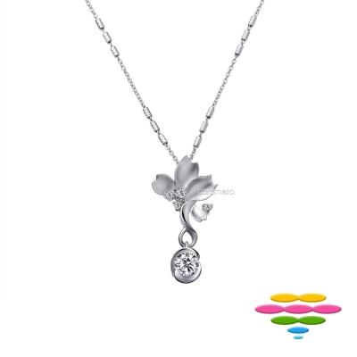 彩糖鑽工坊 19分 櫻花鑽石項鍊 櫻花系列