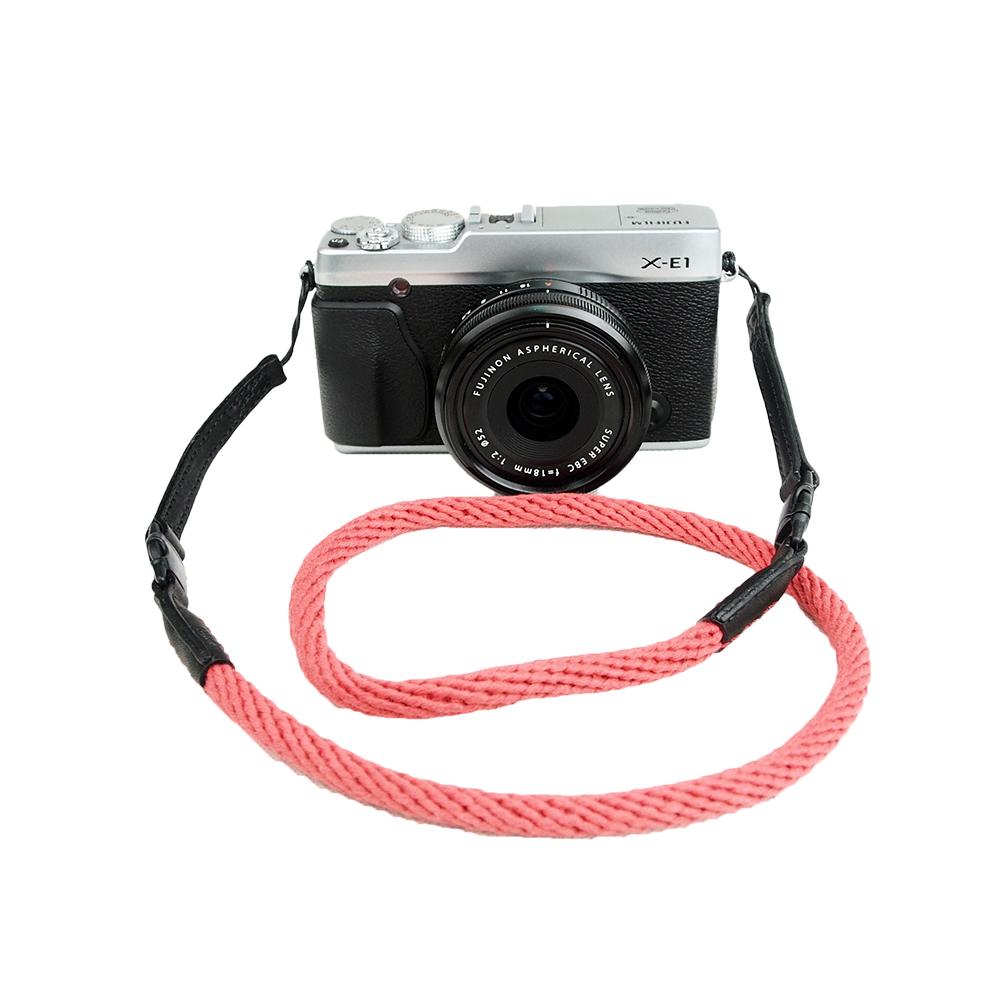 Cam in 棉織細繩款相機背帶(共五色)-紅色