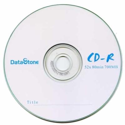 DataStone A級 簡約白 52X CD-R 白金片裸裝( 600片)