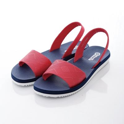 WAVE3【女】台灣製 潛水衣材質涼拖鞋~藍紅