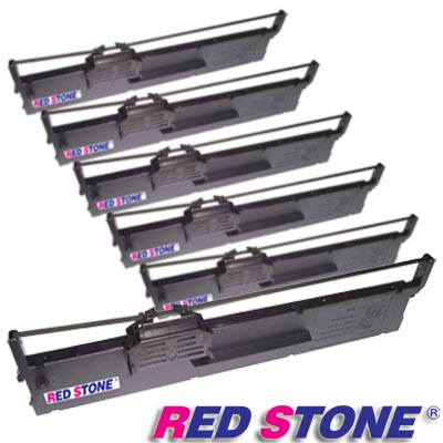 RED STONE for EPSON S015339/PLQ20黑色色帶組(1組6入)