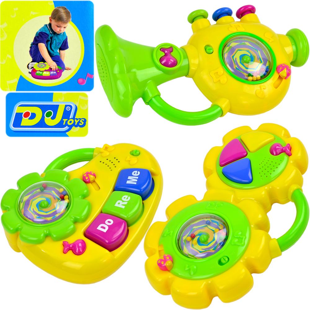 《小小音樂家》太陽花造型兒童成長益智音樂聲響樂器玩具 鼓、琴、喇叭三種造型任選