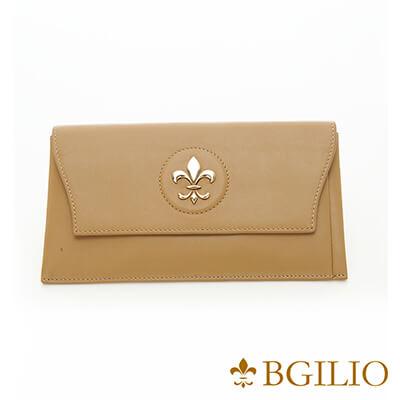 義大利BGilio-高質感Nappa牛皮西式信封長夾(活動式卡夾)-駝色-1478.328