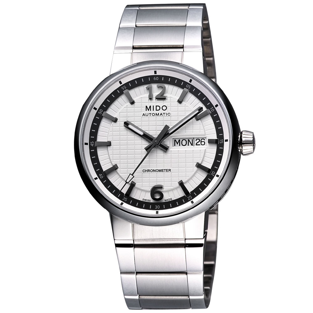 MIDO Great Wall 天文台認證長城系列機械腕錶-白/39mm
