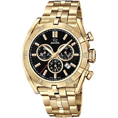 JAGUAR積架 EXECUTIVE 計時手錶-黑x金/45.8mm