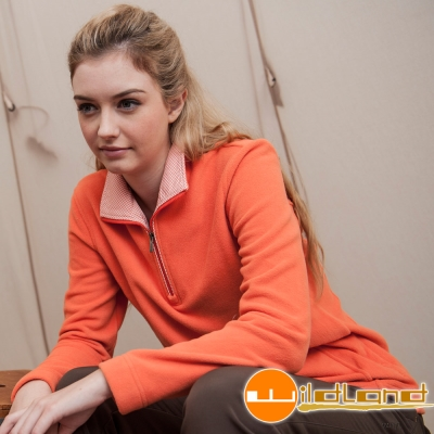 Wildland 荒野 0A22501-84橘色 女 彈性奈 米銀PILE保暖上衣